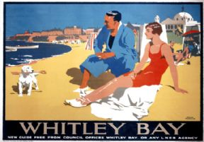 Whitley Bay, Tyne & Wear, Northumberland. LNER Vintage Travel Poster by Frank Newbould